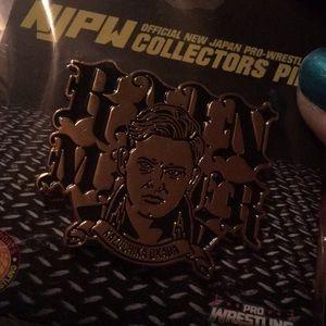 "New Japan Pro Wrestling Accessories - Limited Edition Kazuchika Okada ""Rainmaker"" Pin"